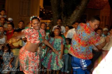 Apresentação do Coco de Roda do Mestre Benedito, de Cabedelo, na Festa das Neves em João Pessoa - Paraíba - Brasil Foto: ©Lilia Tandaya